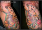 Lego Indiana Jones Tattoo by blrtattoos