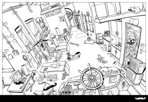 Office Coloring Book page 7-8 by piratesofbrooklyn