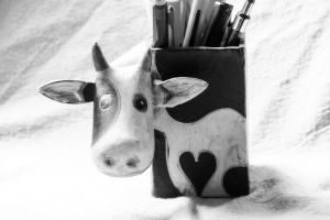 Stationary Cow Dream by KayDensPhotography