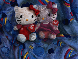 Hello Kitty Painting by FaithWalkers