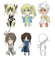 Chibi Adopts 6 Closed! by Pikerth
