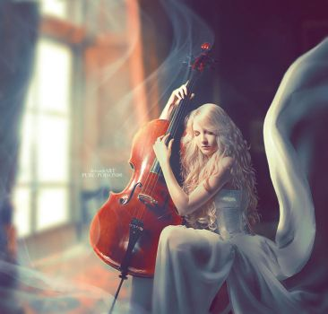 .: Her Sad Melody :. by Pure-Poison89