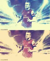 Jack Wilshere Wallpaper V1-V2 by SemihAydogdu