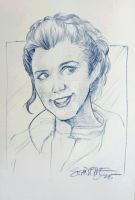 Princess Leia on Hoth - 20 minute drawing by hoganvibe