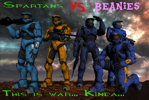 Spartans Vs. Beanies Poster by Shadowpredator100