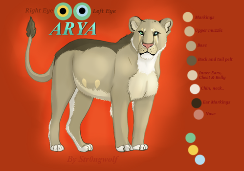 Arya's the Lioness by Str0ngwolf