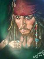 Johnny Depp Painting by NadineSabbagh