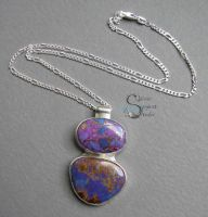 Purple Kingman Turquoise Pendant by PurlyZig