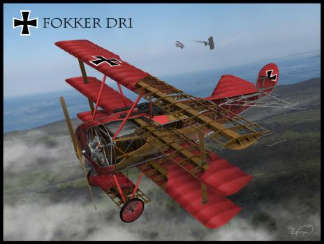 Fokker DR 1 Cut-away by Novastar2486