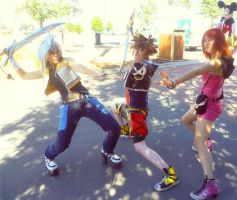 Kingdom Hearts: Journey of the Three Idiots by kiraGrymm