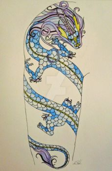 Blue Dragon by ilovelucy365