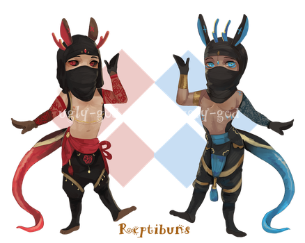 Reptibun skink adopts[CLOSED] by ugly-g0d