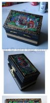 Russian lacquered box by Dwelian