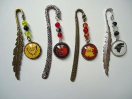Game of Thrones House Sigil Bookmarks by Onlystar