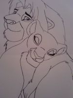 Simba and Nala Basic by x-clarey-x
