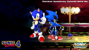 Sonic 4/Generations mashup picture by Ocrilio-the-Hedgehog