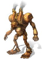 Steam punk robot by ejdc