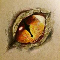 Smaug eye doodle by Onalew