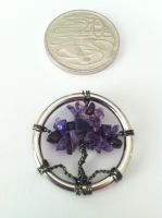 Tiny Tree of Life wire pendant by KrystalsTinyCakery