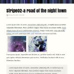 Stripe02 - A road of the night town by 85yoshida