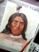Portrait of Red Cloud by BrandyWoods
