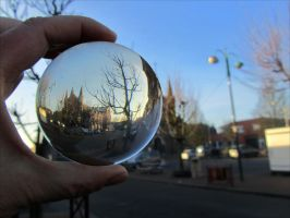 Church in crystal ball by April-Mo