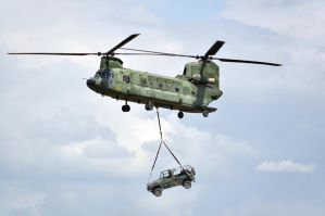 Chinook helicopter with jeep by BDStudio