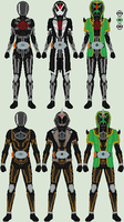Point Commission: Kamen Riders Shinigami and Ghoul by Omega-King-DX