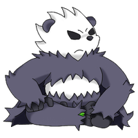 Pangoro (Colored) by FlamingBravery