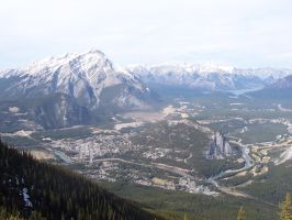 Banff from above by Kho-chan