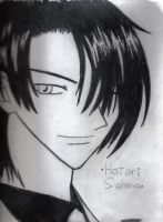 Hatori Sohma- Black and White by DarknessFelineSainan