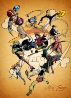 One Piece Crew Colored by TrouperDNico