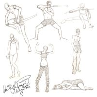 Gesture Drawings 1 by rageofthematrix