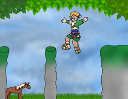 Link is a Derp at Jumping by TheLimeTangerine