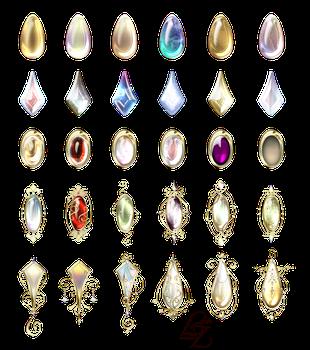 Small jewelry with precious stones by Lyotta