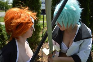 Ichigo vs. Grimmjow by BahamutDawnCreations