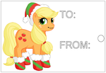 Apple Jack - Christmas Printable Gift Tag by Deathdog3000