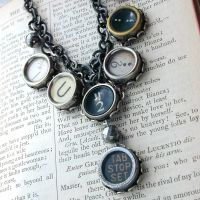 U2 Typewriter Key Necklace by JudithBDesigns