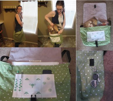 Silver Hearts Messenger Bag by Nerds-and-Corsets
