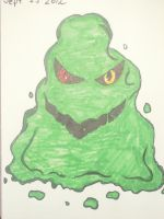 Oct 3rd 2012 Green Blob by AceOfStCanardKLy