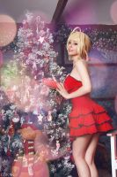Fate/Extra - Saber Nero Christmas by Disharmonica
