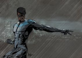Nightwing by Saxon-Blake