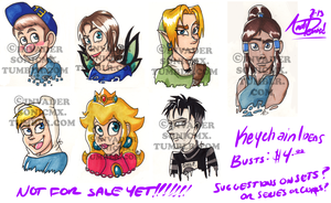 Keychain Busts (Not on Sale yet!) by InvaderSonicMx