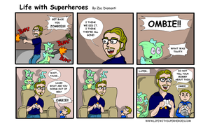 Life with Superheroes #5 by ZacAvalanche