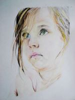 pencil crayon portrait by G3NIUS-PRODUCTIONS