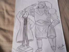 Edward Elric and Alphonse by AoAlChEmIsT