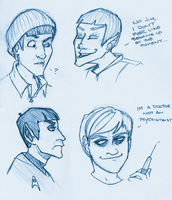 TOS: Spock and McCoy by p1nkninja