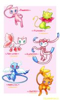 Mew variations by MyHeartGold