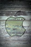 Iphone 4 Apple Wallpaper Paint by thekingofthevikings