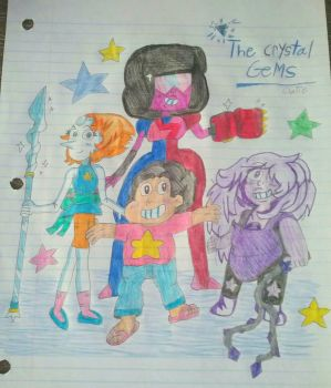 The Crystal Gems! by Claire-Petal-Splash